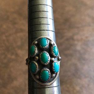 Vtg turquoise sterling ring